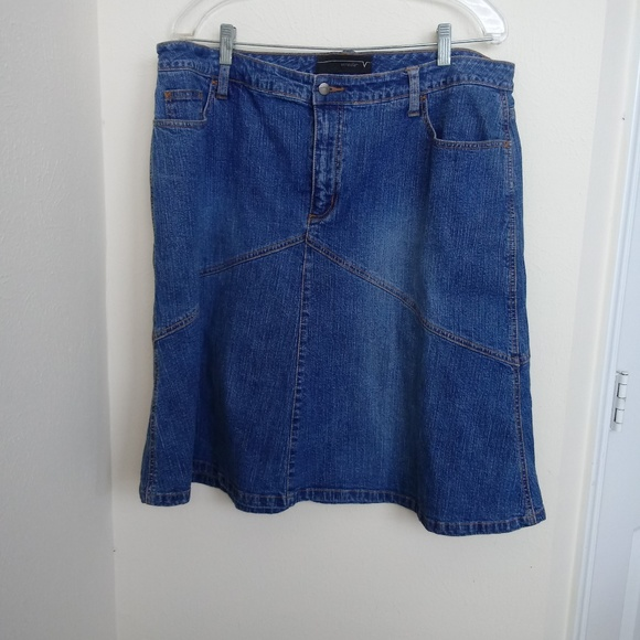 top-rated quality uk store reasonable price Women Plus Size 16 Blue Denim Jean Skirt